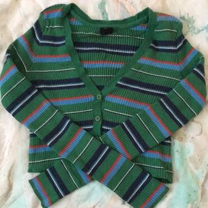 Urban outfitters cropped stripe cardigan
